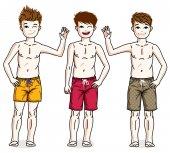 Young teen boys
