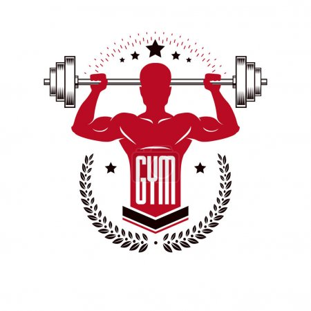 Sport logo for weightlifting gym