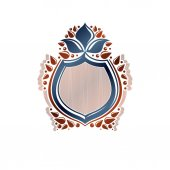 Blank vintage emblem with copy-space vintage heraldic design Decorative winged protection shield