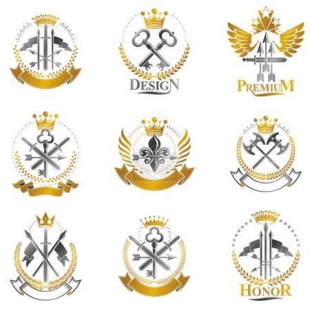 Vintage Weapon Emblems set.