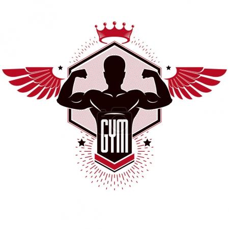 Sport logo for weightlifting gym and fitness club
