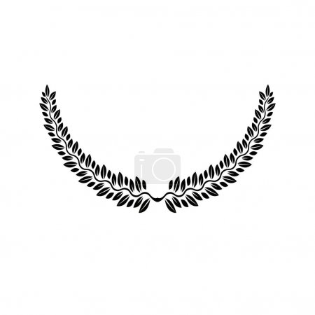 Laurel Wreath floral emblem.