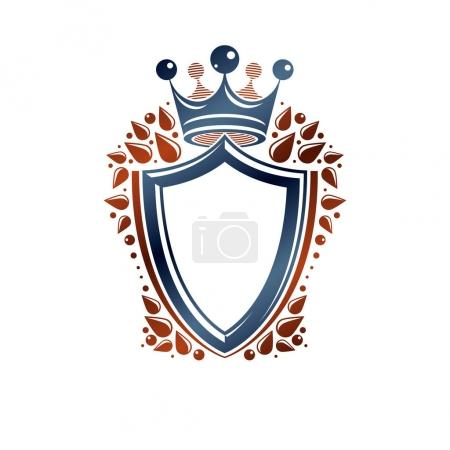 Blank heraldic design with copy space