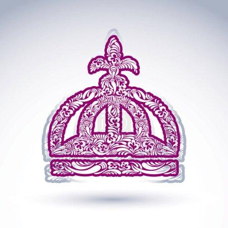 Flower-patterned decorative crown