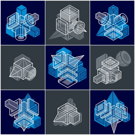 Engineering abstract geometric shapes