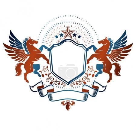Heraldic Coat of Arms decorative logo