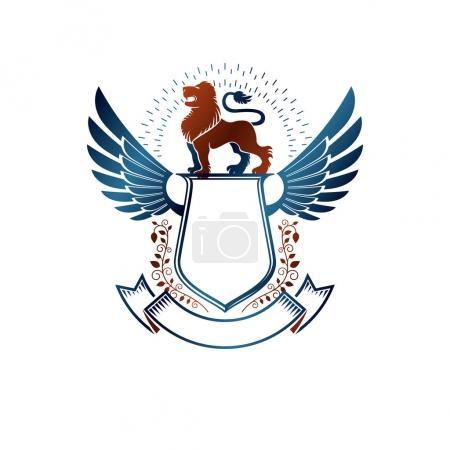 Graphic winged emblem