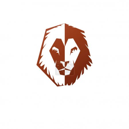 Brave Lion King face emblem