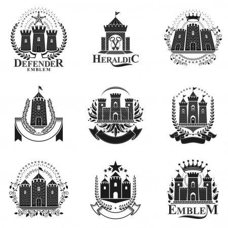 Ancient Castles emblems set