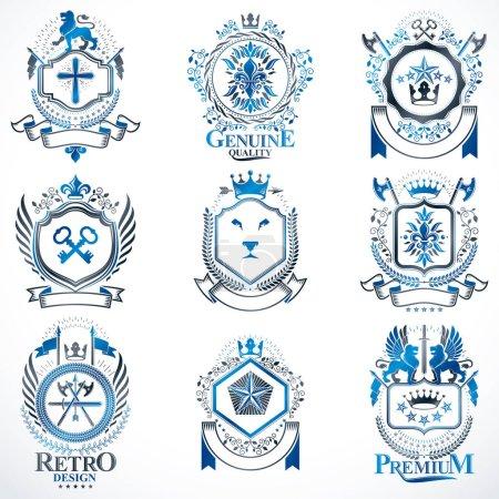 classy heraldic Coat of Arms.