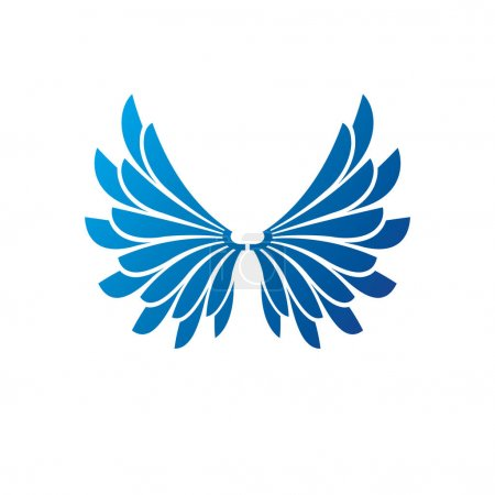 Blue freedom Wings emblem.