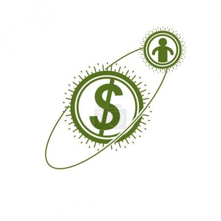 The Global Financial System conceptual logo
