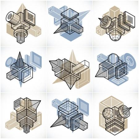Abstract construction isometric designs collection