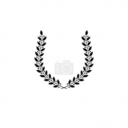 Laurel Wreath floral heraldic element