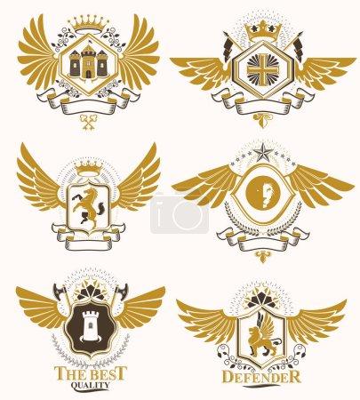 heraldic decorative coat of arms