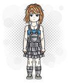 Cute little redhead girl