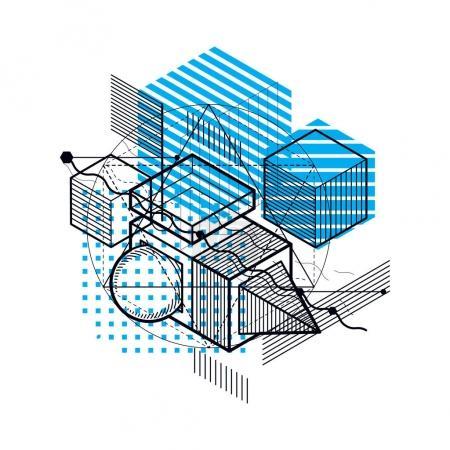 Abstract isometrics background