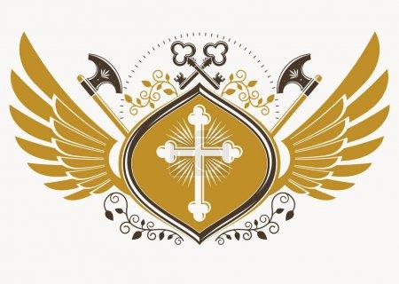 Vintage heraldic emblem