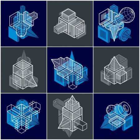 Abstract construction isometric designs