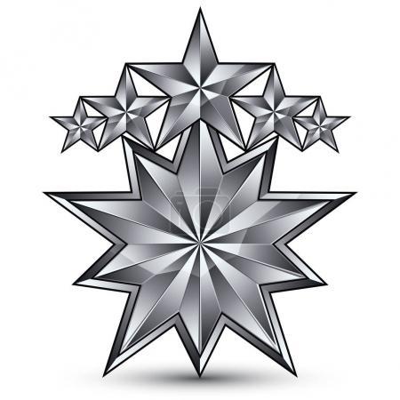 pentagonal symbo étoile argentée