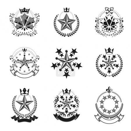 Heraldic Coat of Arms decorative logos