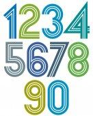 Sunny cartoon striped numbers