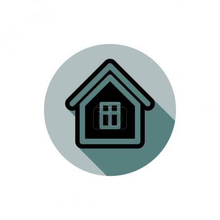 Simple house detailed illustration.
