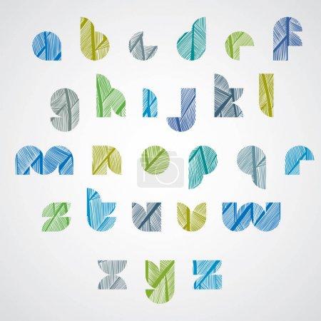 Pattern ornamental colorful fashionable font