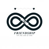 Infinity sign with two hands touching each other
