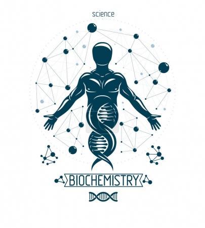 Vector illustration design of model of human DNA, ...