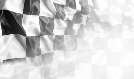 Photo for Checkered black and white flag. Copy space - Royalty Free Image