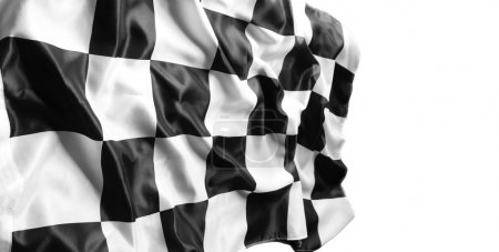 Photo for Checkered black and white flag - Royalty Free Image