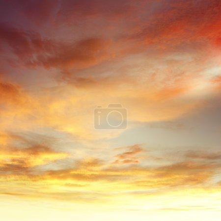 Summer clouds in sky