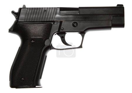 Gun on white