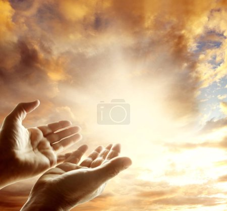 Photo for Hands reaching for the sky - Royalty Free Image