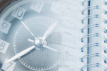 Time management. Clock diary