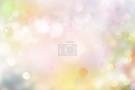 Photo for Colorful blurred circles abstract background. Copy space - Royalty Free Image