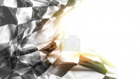 Photo for Checkered black and white racing flag. Copy space - Royalty Free Image