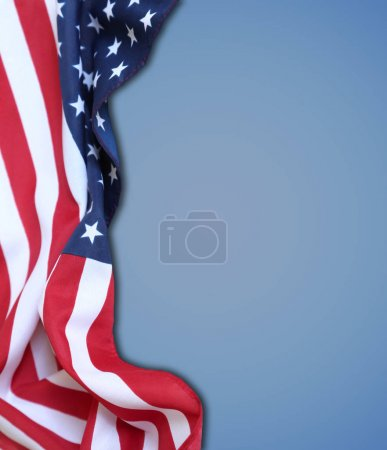 Photo for American flag on blue background - Royalty Free Image