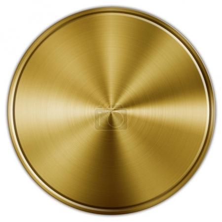 Golden steel button