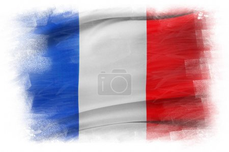 Photo for French flag on plain background - Royalty Free Image