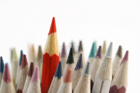 Pencil standing out