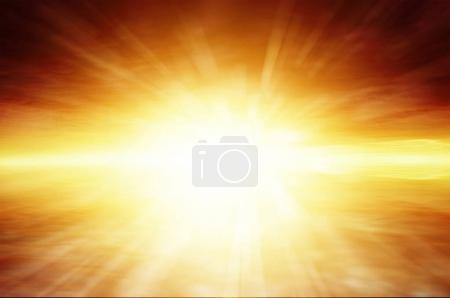 Photo for Sun rays in bright sky - Royalty Free Image