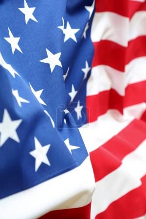 Rippled USA flag