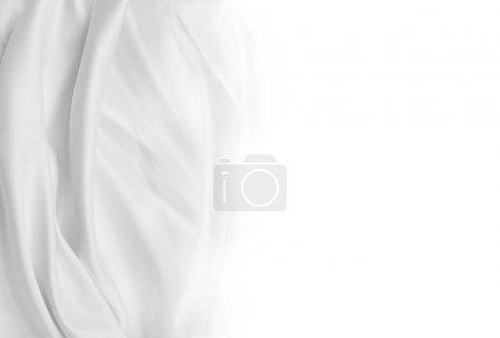 tissu de soie blanc