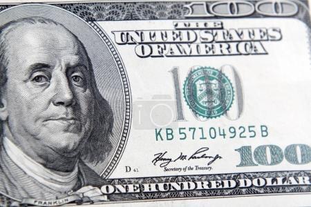 Benjamin Franklin on banknote