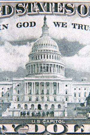 U.S. fifty dollars banknote detail