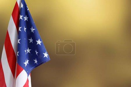 American flag. Copy space