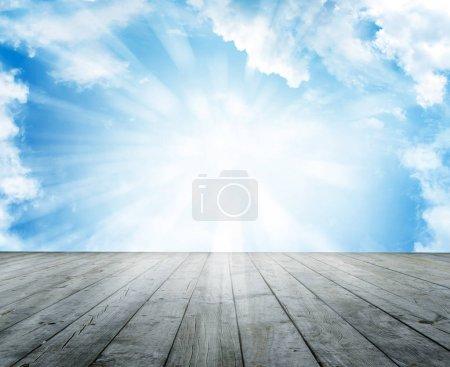 Floor and sky