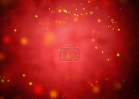 Spots on red background